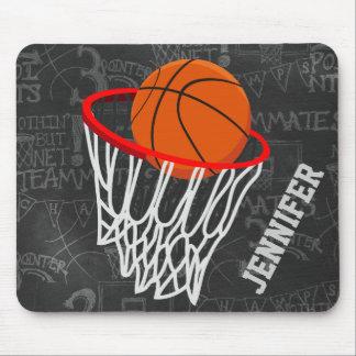 Basket-ball personnalisé et cercle de tableau tapis de souris