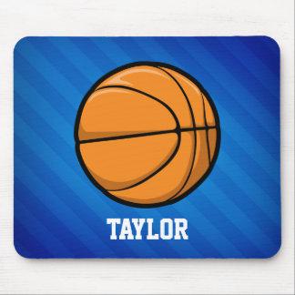 Basket-ball ; Rayures bleues royales Tapis De Souris