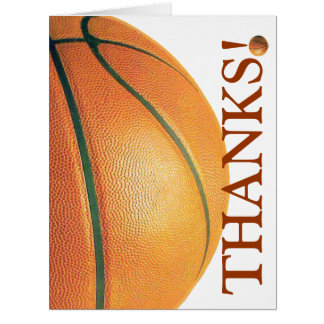 Basket-ball-Remerciez-vous de donner des leçons Carte De Vœux Grand Format