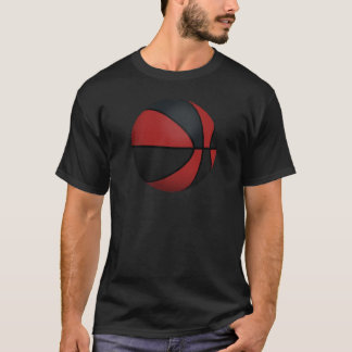 Basket-ball rouge et noir : t-shirt