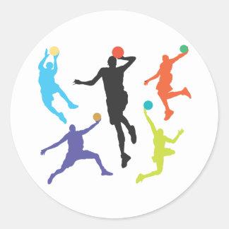 Basket-ball Sticker Rond