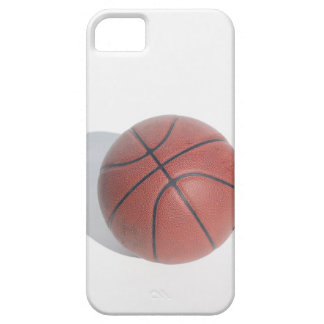 Basket-ball sur l'arrière - plan blanc coque barely there iPhone 5