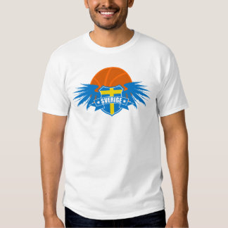 Basket-ball Sweden   Sverige   Suède T-shirts