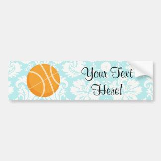 Basket-ball turquoise de sabot de damassé