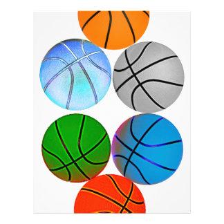 Basket-balls colorés par multiple prospectus 21,6 cm x 24,94 cm