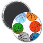 Basket-balls multiples magnets pour réfrigérateur