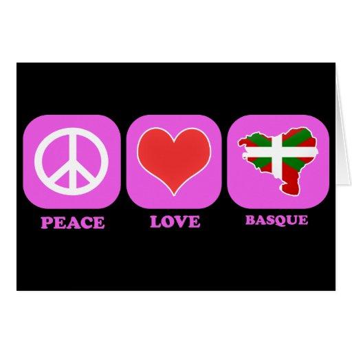 Basque d'amour de paix carte de vœux