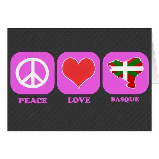 Basque d'amour de paix cartes de vœux