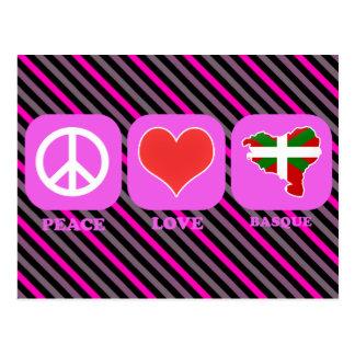 Basque d'amour de paix carte postale