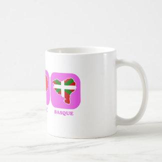 Basque d'amour de paix tasses à café