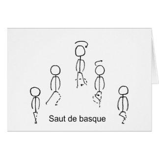 Basque de Saut De Cartes De Vœux