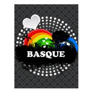 Basque fruité mignon carte postale