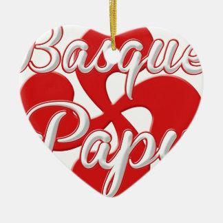 Basque Papy Ornement Cœur En Céramique