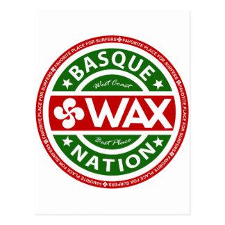 Basque wax for surfers carte postale