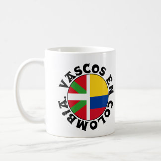 Basques dans le logo de la Colombie, Mug Blanc