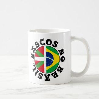 Basques dans le logo du Brésil, Mug Blanc