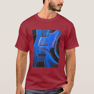 basse bleue t-shirt