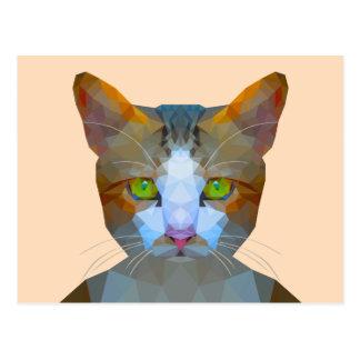 Basse poly carte postale mignonne de chat