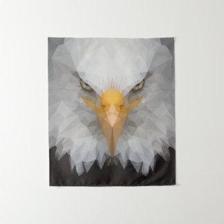 Basse poly tapisserie de mur d'aigle