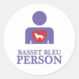 Basset Bleu de Gascogne Adhésif Rond