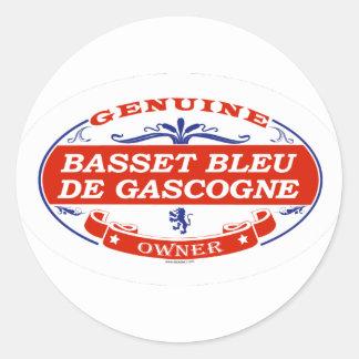 Basset Bleu De Gascogne Adhésifs Ronds
