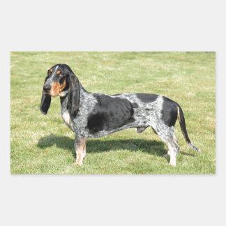 Basset Bleu de Gascogne Dog Sticker Rectangulaire