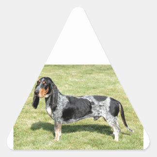 Basset Bleu de Gascogne Dog Sticker Triangulaire