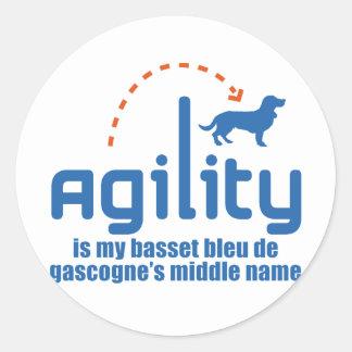 Basset Bleu de Gascogne Sticker Rond