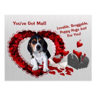 Basset Hound vous avez des étreintes Valentine de Carte Postale