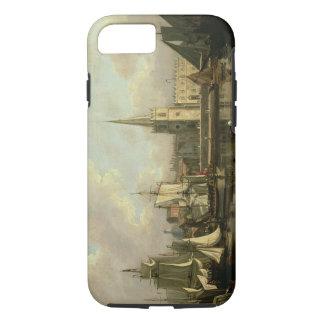 Bassin de dock de George, Liverpool, 1797 (huile Coque iPhone 8/7
