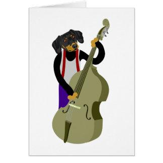Bassiste de jazz de teckel cartes