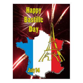 Bastille jour 14 juillet carte postale