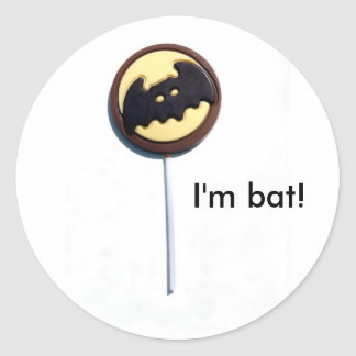 """BAT"" halloween products Adhésifs Ronds"