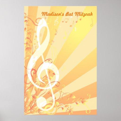 Bat mitzvah de clef de musique Signe-Dans l'affich Affiche
