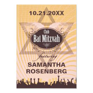 Bat mitzvah de club carton d'invitation  12,7 cm x 17,78 cm