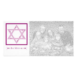 bat mitzvah (élégance d'étoile de David) Photocarte Personnalisée