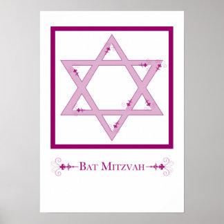 bat mitzvah (élégance d'étoile de David) Poster