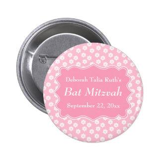 Bat mitzvah floral rose badge avec épingle