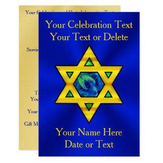 Bat mitzvah personnalisé, invitations de Mitzvah