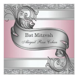 Bat mitzvah rose argenté bristol