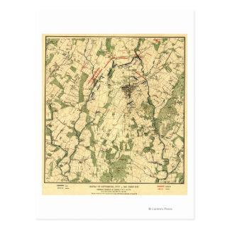 Bataille de Gettysburg 12 Carte Postale