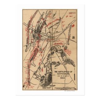 Bataille de Gettysburg 2 Carte Postale