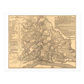 Bataille de Shiloh - carte panoramique 3 de guerre