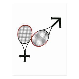 Bataille du tennis de sexes carte postale