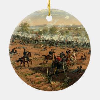 Bataille Gettysburg Hancock chez Gettysbug Ornement Rond En Céramique