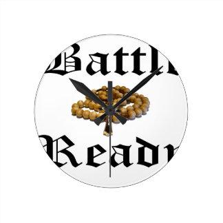 Bataille prête horloge ronde