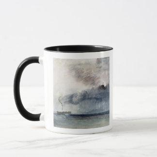 Bateau à vapeur dans une tempête, c.1841 (la mug
