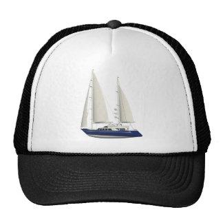 bateau à voile bleu casquette