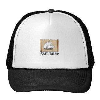 bateau à voile de joie casquette trucker
