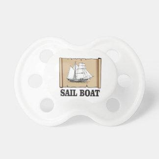 bateau à voile de joie sucette pour bébé